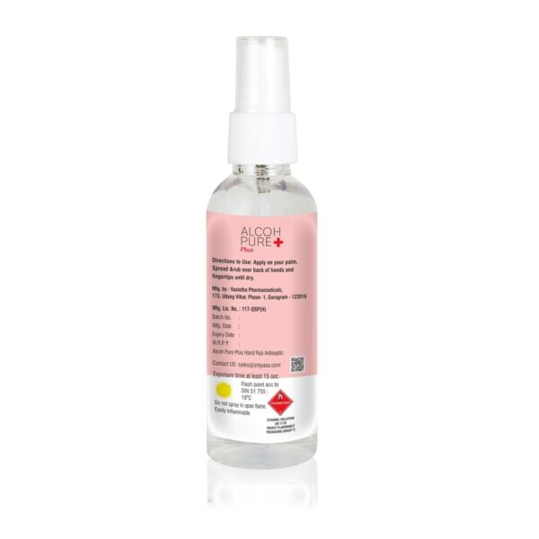 Alcohpure Plus Handrub spray - 100ml - zreyasa consumers